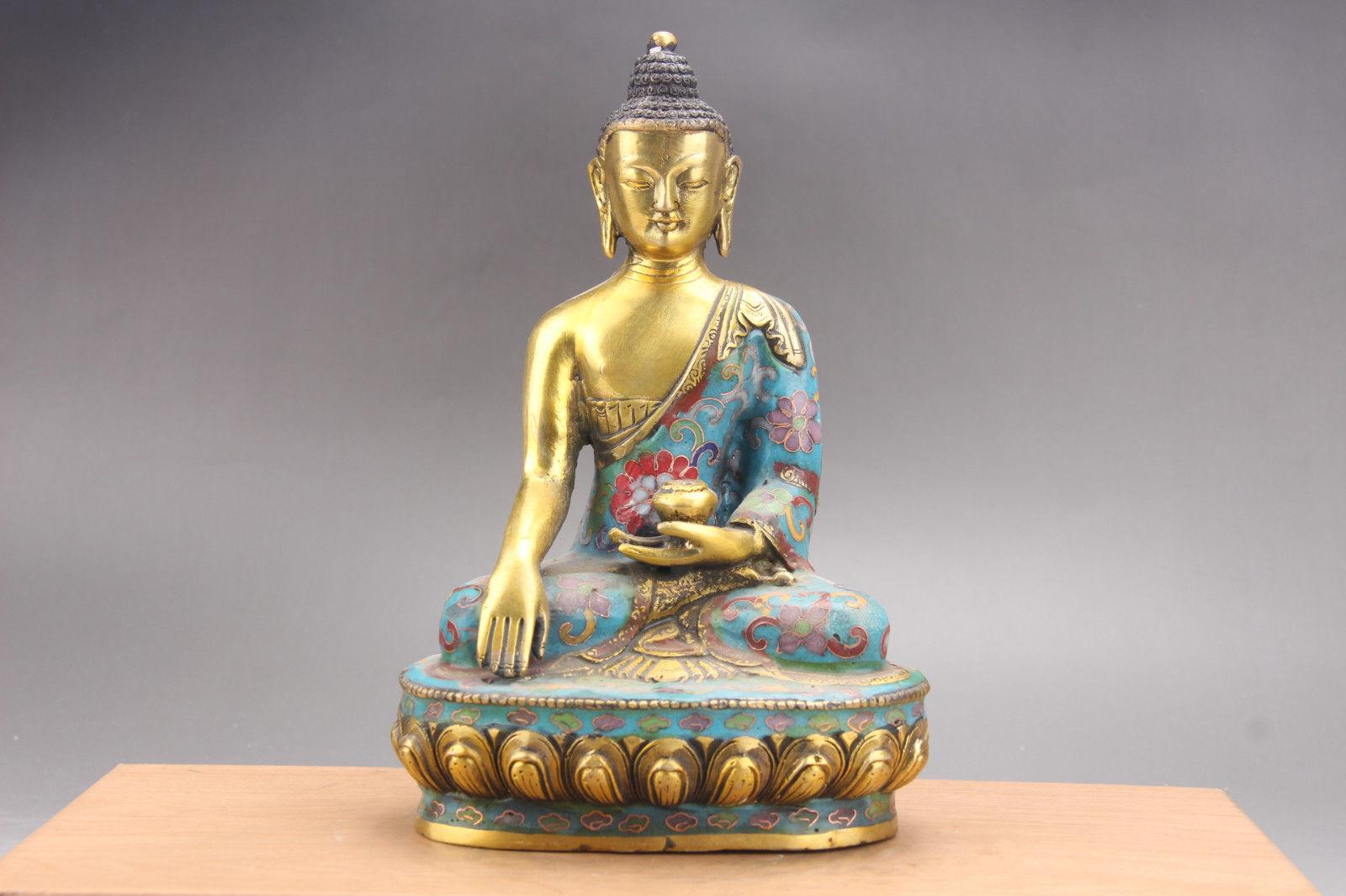Handcarved Deity Joss Buddha Statue Collectable Figurine Christmas Xmas Gift