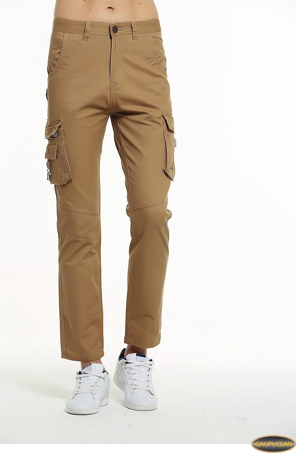 attractive colour discount top-rated 2019 Gaupucean Man Cotton Straight Casual Trousers Quality Army Green Khaki  Black Full Length Pockets Fashion Men Chino Cargo Pants From Dhmfashion, ...