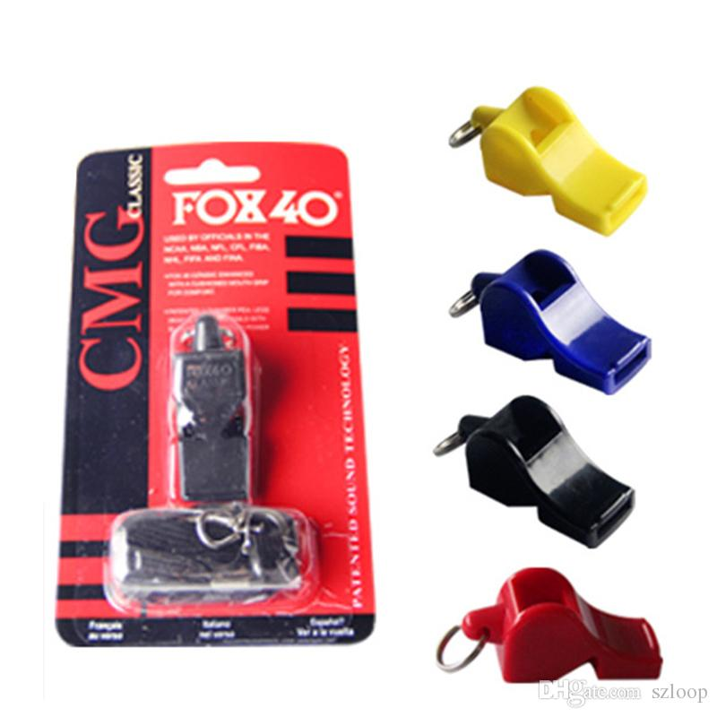 FOX40 Whistle Plastic FOX 40 Soccer Football Basketball Hockey Baseball Sports Classic Referee Whistle Survival Outdoor 3004016