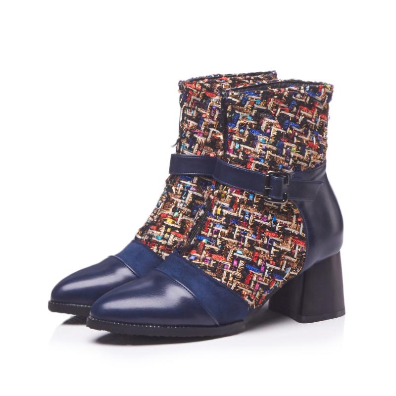 Punk Stil Damen Schuhe Stiefeletten Schnürschuhe Winterschuhe Lackleder Gr:32-48