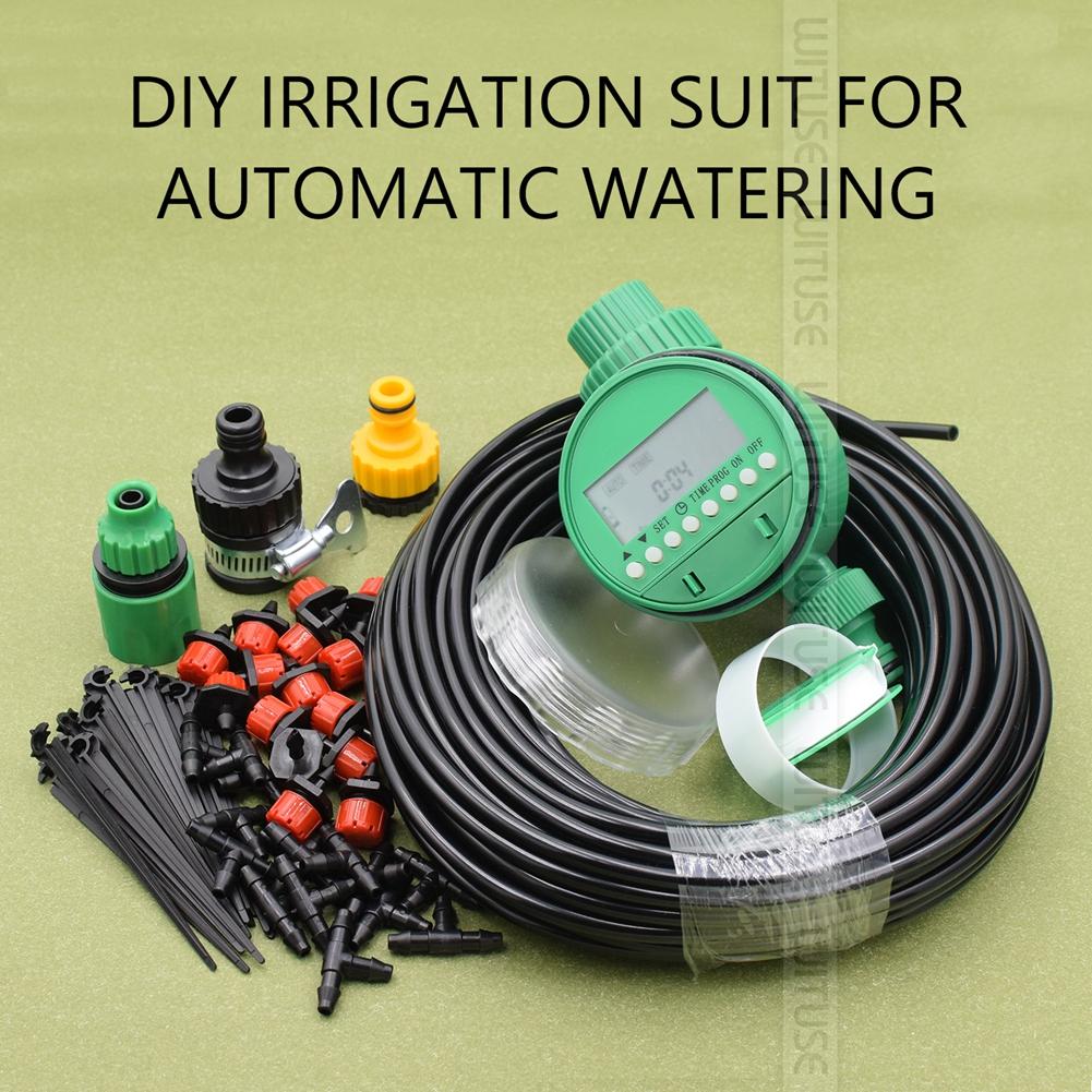 Kit système d/'irrigation micro-goutte d/'arrosage 25m jardin diy outil d/'arrosage