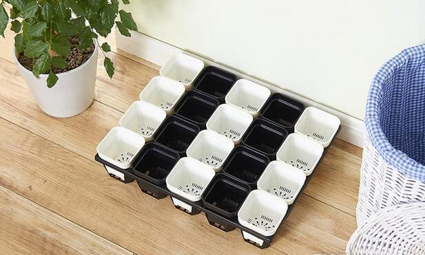 2018 Hot sales MOQ 5 Size Option durable Square Plastic Pots for Plants, Cuttings & Seedlings Nursery Pots Living Garden Planters