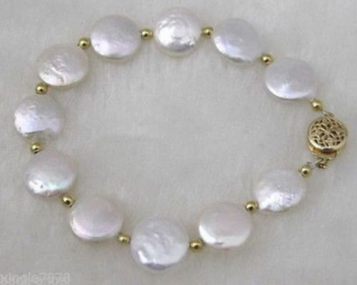 QGC Sterling Silver 29 x 13mm Pearl//Bead Clasp