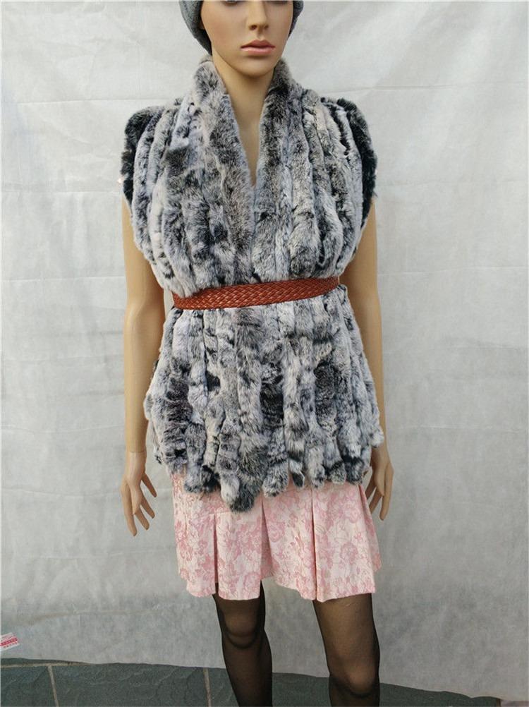 knitted rex rabbit fur scarf for women winter (18)