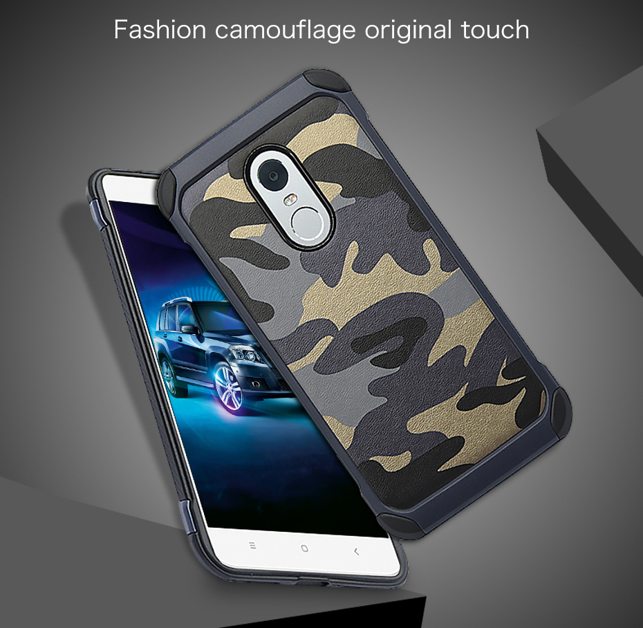 Millet 6 mobile phone shell red rice note43 protective sleeve 5 creative camouflage all inclusive anti fall soft silicone Combo (2)