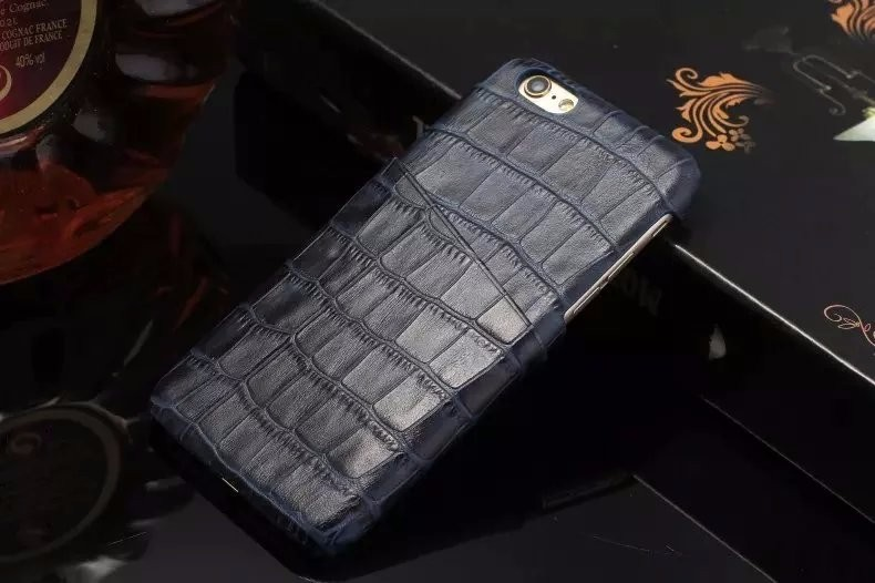 blue color real leather case for iPhone 6 6S Plus