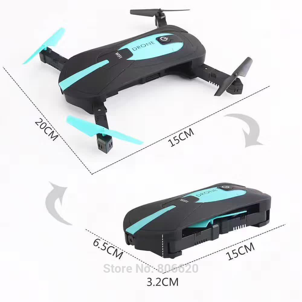 Low Cost HD Wifi Real-time Aerial Photography Foldable Toy Drone with No Head Mode & Mobile Phone & Tablet App Gravity Control_7
