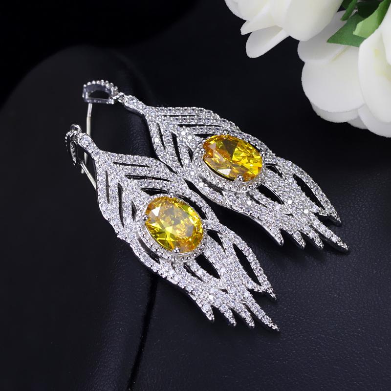 Yellow Crystal Earrings 4