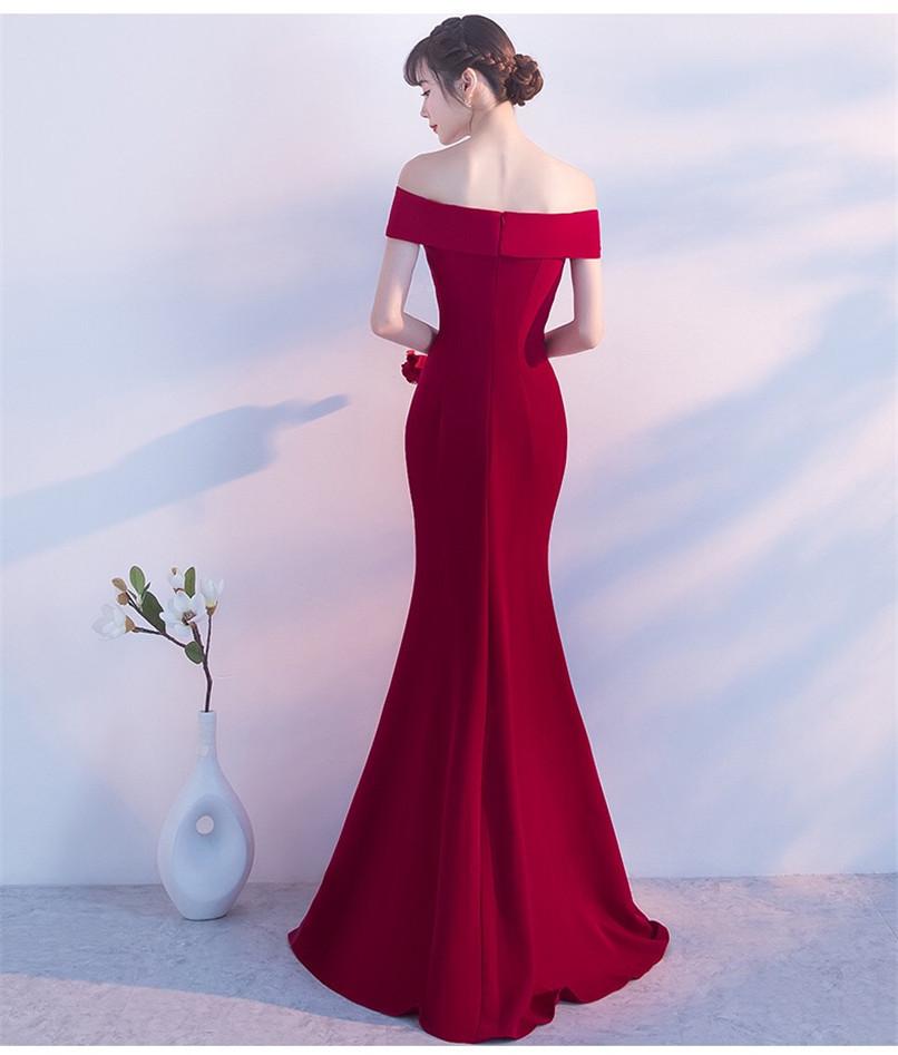 Summer Brides Toast Splitting Sexy Long Fish Tail Wedding Dress Women Evening Dress Prom Gowns Formal Wear A0012