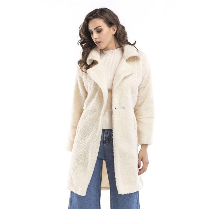 Winter Echte Pelzkragen Fell Wollmantel Fellimitat Damen Wollmantel Mode Mantel