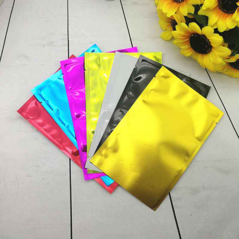 6 sizes PE Colorful Heat Seal Aluminum Mylar Foil bag Smell Proof Pouch Closet Organizer Kitchen Accessories Home Decor Craft Supplies