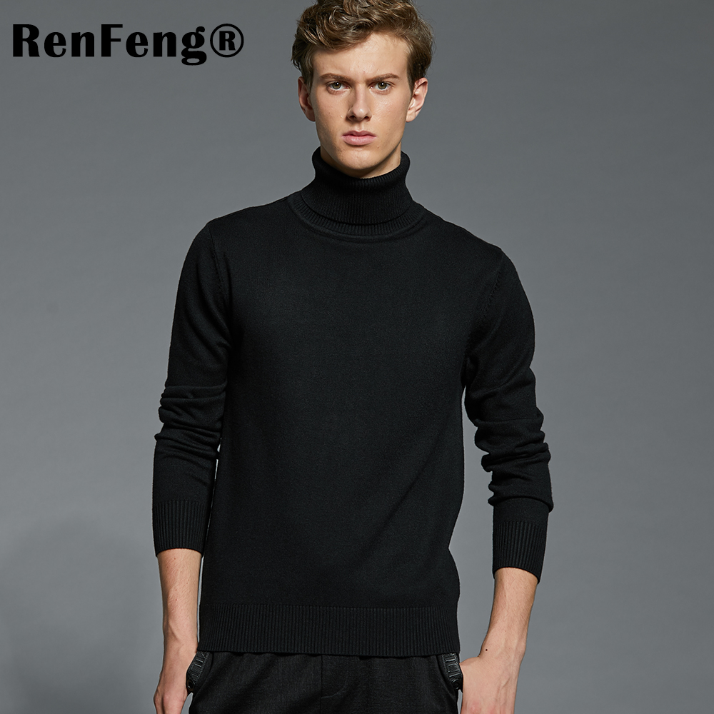 Winter Thick Warm Cashmere Sweater Men Turtleneck Mens Sweaters Plus Size Pullover Man Classic Wool Knitwear Thermal Pull Homme (1)