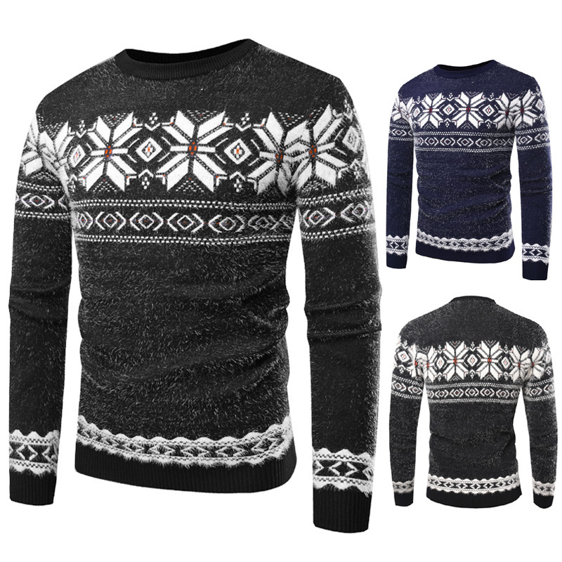 Wholesale Men Sweater Snowflakes on Halloween Buy Cheap in