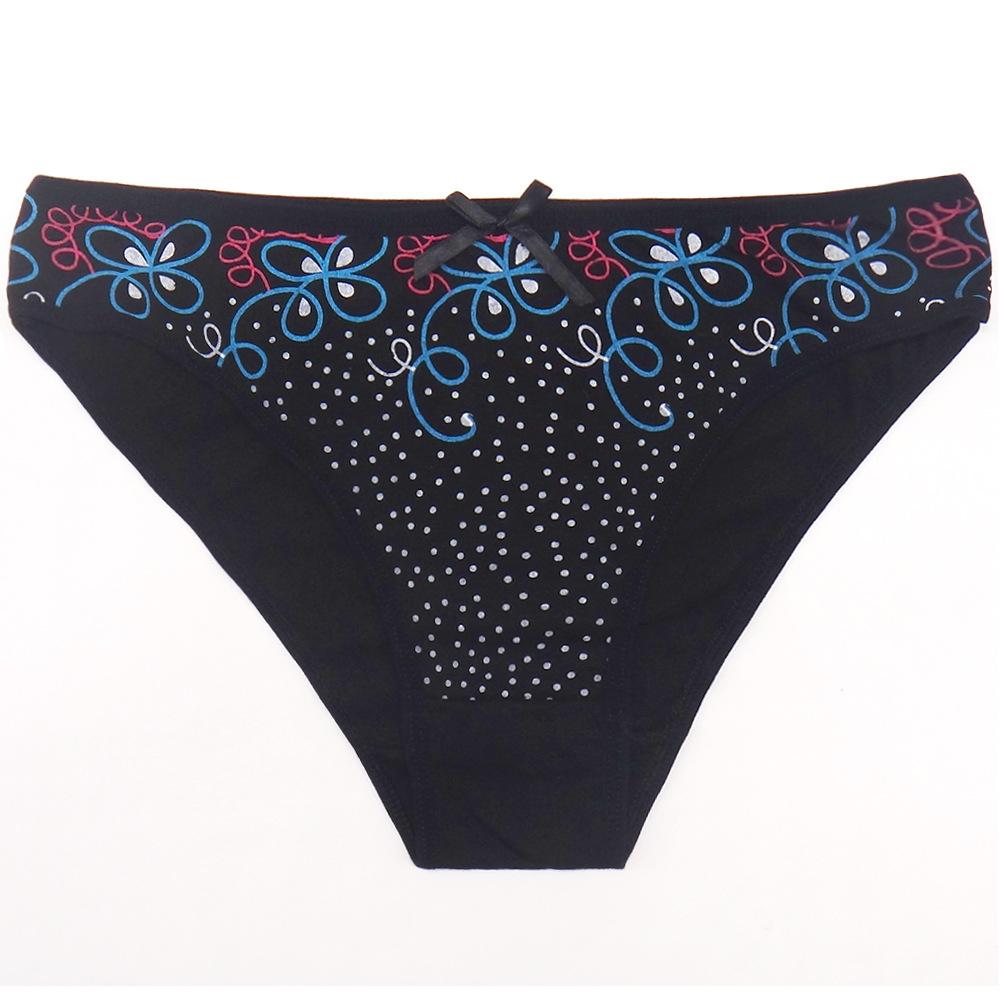 M L XL Women Panties Cotton Sexy G String Girl Cute Panty Women's Flowers Briefs Female Shorts