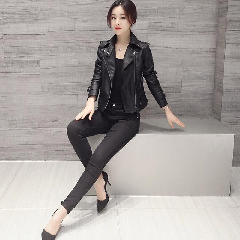 Donna-2018-New-Women-Faux-Leather-Jacket-Slim-Long-Sleeve-Faux-PU-Leather-Zipper-Coat-Lady (2)