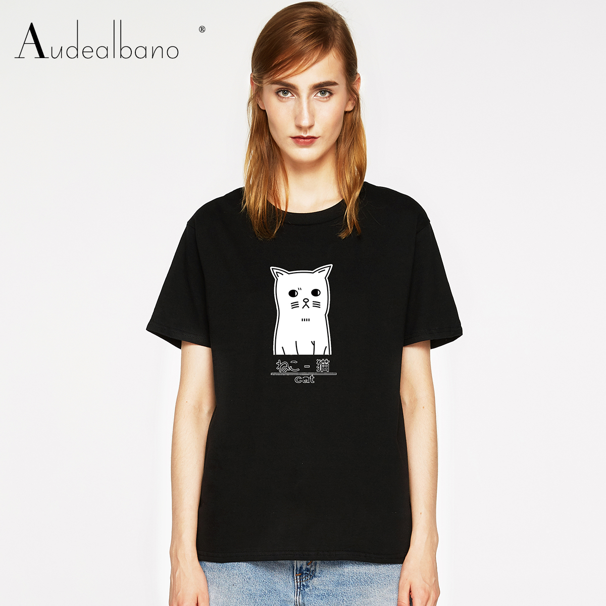 Kawaii Sweatshirt with Falbala 2-6T Short-Sleeve Cat Face T-Shirts for Girls