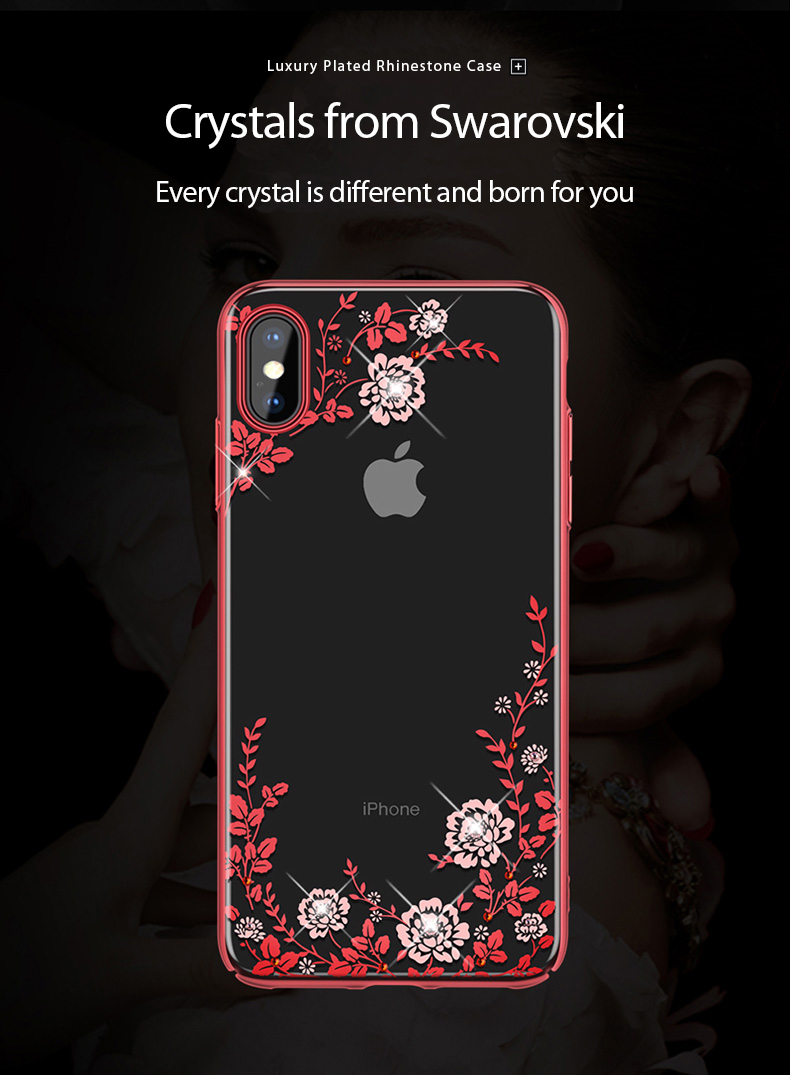 KINGXBAR Case for iPhone Xs Case Gorgeous for iPhone Xs Max Cover Luxury for iPhoneXs Cover Transparent Crystals from Swarovski (5)