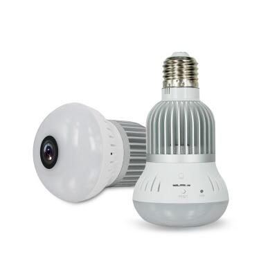 Wifi Mini IP Camera 360 Degree Home Security Wireless Panoramic Wifi IP CCTV Camera Led Light Bulb Panoramic Vr Video Security Camera