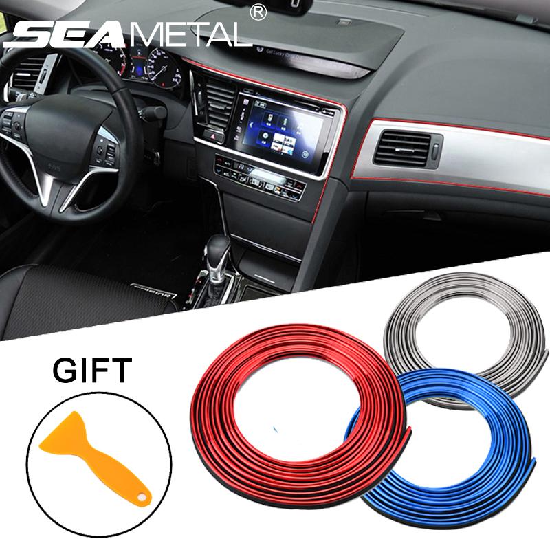5m,orange Car Gap Decorative Line Auto Accessories 3D Dashboard Door Edge Interior Styling Mouldings Trim Strips