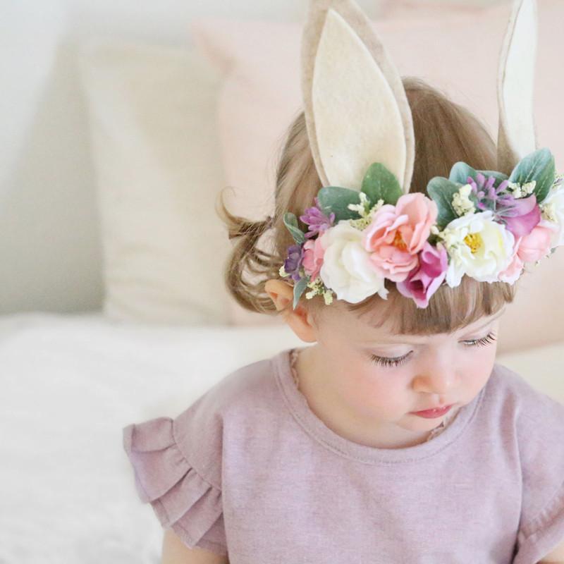 Shabby Fleur Rose Couronne Bandeau Pour Bébé Filles Fleur Hairband