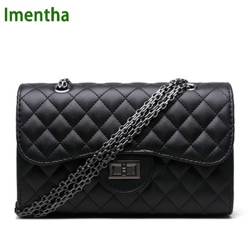 2017 black women shoulder bags party crossbody chain bag plaid handbag quilted sac a main femme women leather handbags