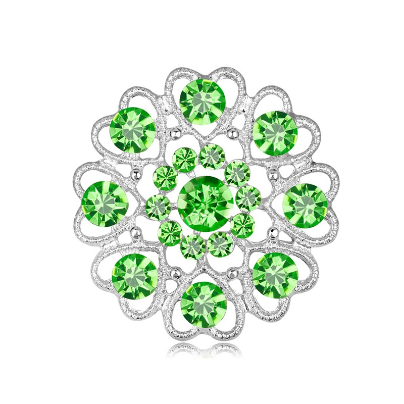 Brand Classic Rhinestone Crystal Flower Brooches For Women Men Wedding Party Fine Bouquet Brooch Pin Mixed For Choose