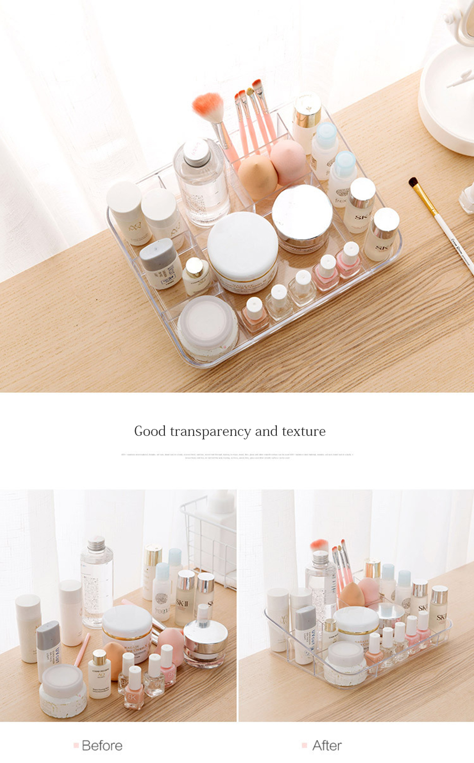 Storage Boxes Clear Acrylic Makeup Organizer Storage Box Case Lipstick Plastic Make Up Organizer For Brushes Jewelry Cosmetic _08
