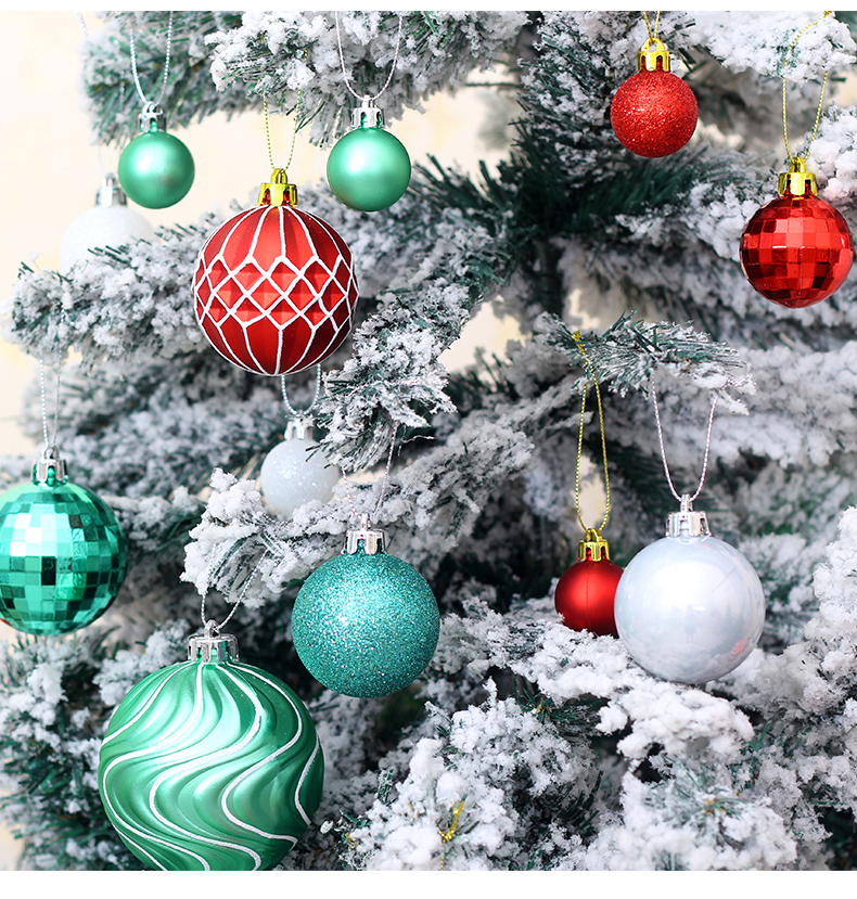 08 inhoo 50pcs Christmas ball Decorations for home Christmas Tree Decoration Ball Ornaments Pendant Accessories Xmas Gifts 2019 new