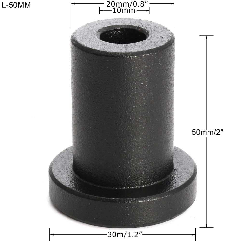 Quincaillerie pour porte coulissante en acier au carbone noir rondelle pour rail de porte coulissante entretoise