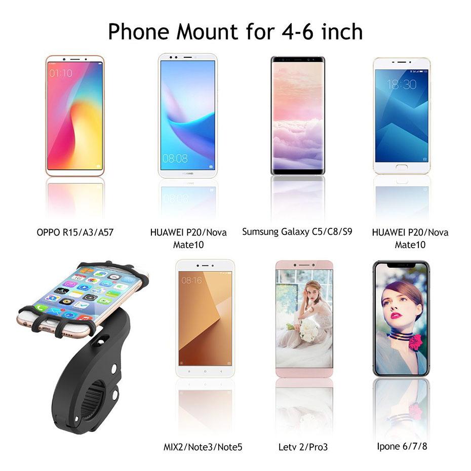 360 Degree Rotation Bicycle Phone Holder For Iphone X Iphone 8 Smartphone Bike Handlebar Mount Bracket Navigation Stand Holder (2)