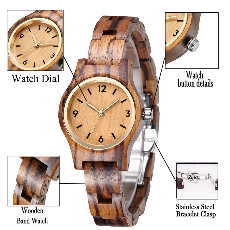 b66 zebra wood watch