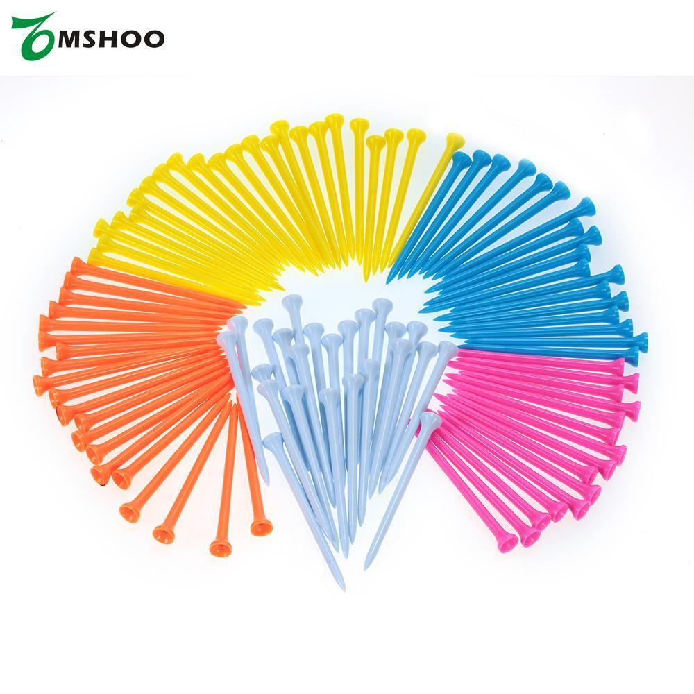 2018 2018 43/55/70/81/100mm Plastic Golf Ball Tee Golf Tee Tool Mixed Color  Golf Holder Training Aid Outdoor Sport Equipment From Panthers, &Price