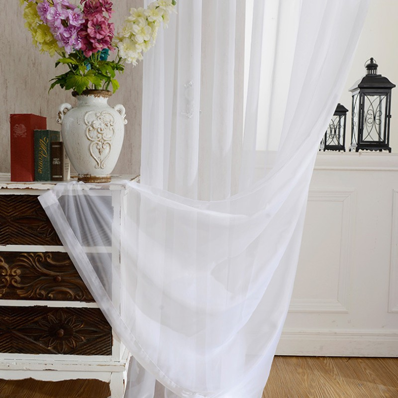 2019 Europe Solid White Yarn Curtain Window Tulle Curtains For Living Room  Kitchen Modern Window Treatments Voile Curtain From Yiruishen, $24.3 | ...