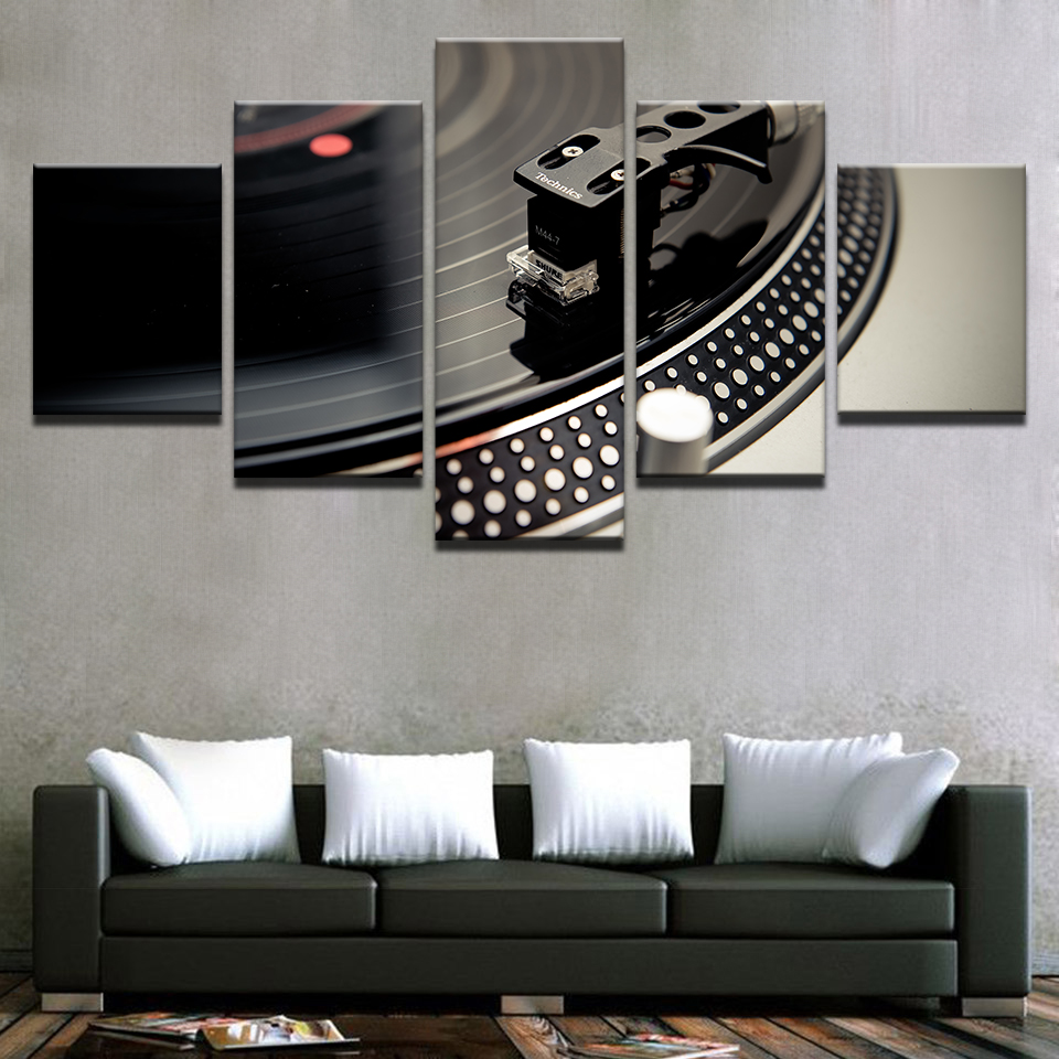 5 Panel Wall Art Musician Prince Rogers Nelson Painting Canvas Print Home Decor