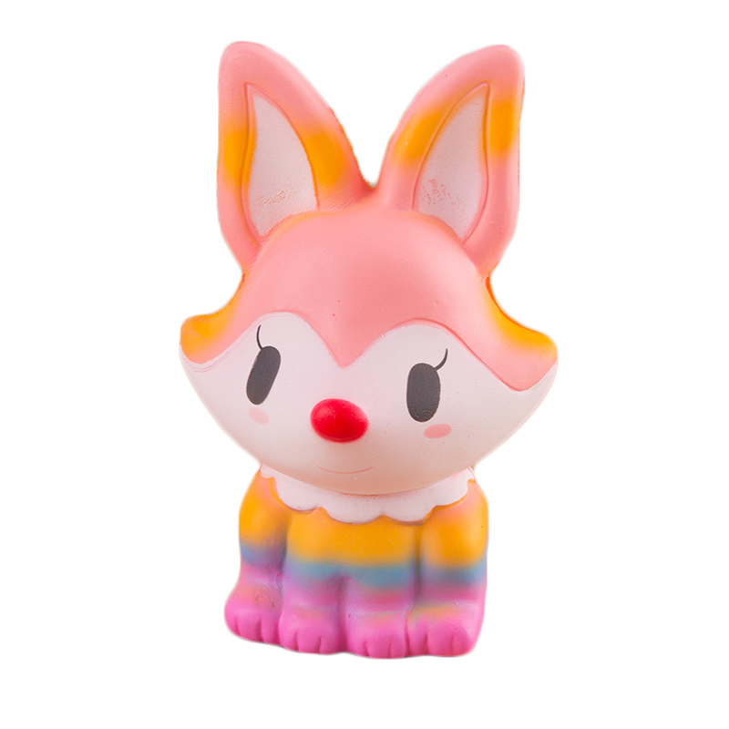 Buy Two Get Three Squishy Jumbo 14cm kawaii Fox Squishy Slow Rising Squeeze Stress Relief Toy Phone Strap Squishi Kid Juguetes