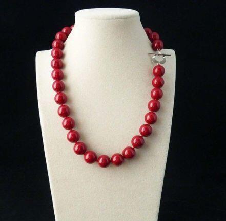"Pretty NATUREL CORAIL ROUGE 8 mm Perles Rondes Gemme Collier 18/"""