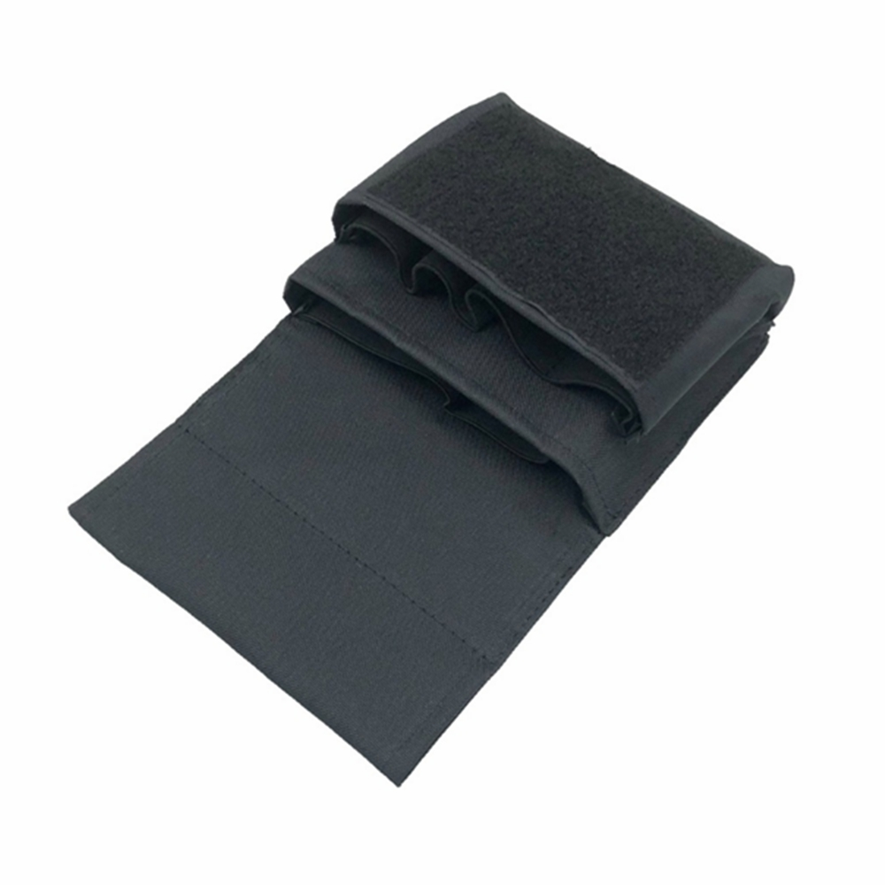 BLACK Shooting Rifle & Pistol Magazine Pouch MOLLE / Belt High Speed Mag Carrier Holds .223 and 9mm Magazine