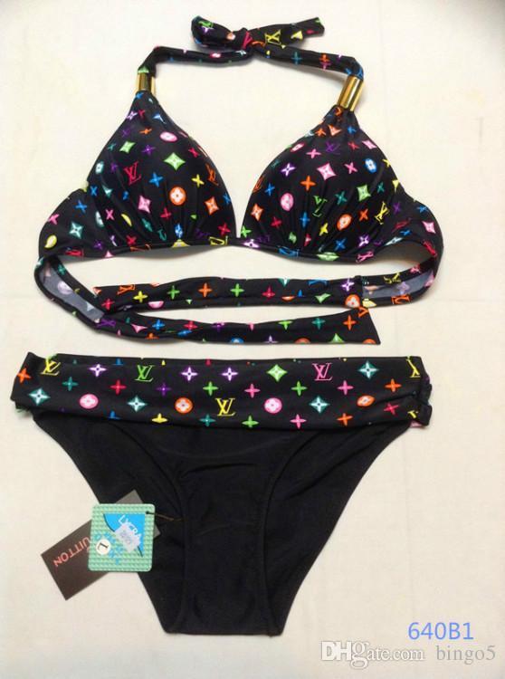2018 Mujeres Sexy Bikini traje de Baño Conjunto Diseño de Moda Ropa de Playa Triángulo Superior Inferior Extraíble Armadura Bragas Traje