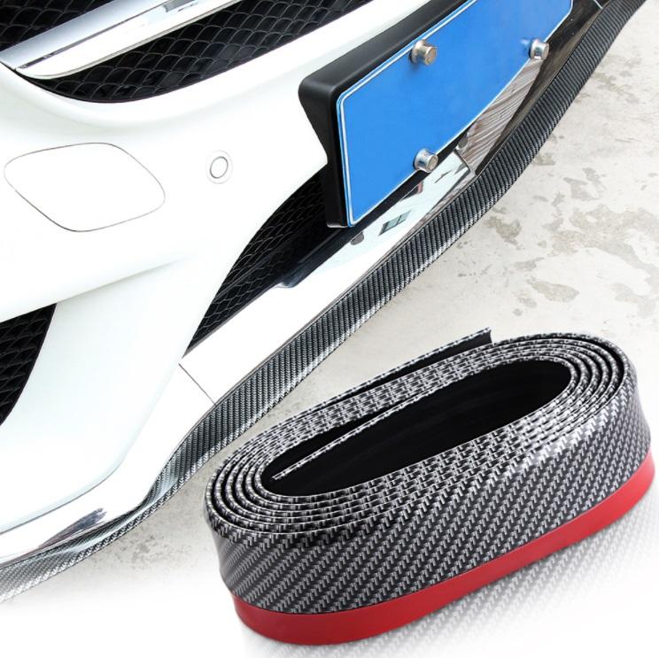 EN PVC souple Autocollant de voiture levre Jupe protecteur de voiture Bord avant pare-chocs de voiture en caoutchouc Bande Bande de pare-chocs de voiture universel 2.5/metres 55/mm Largeur