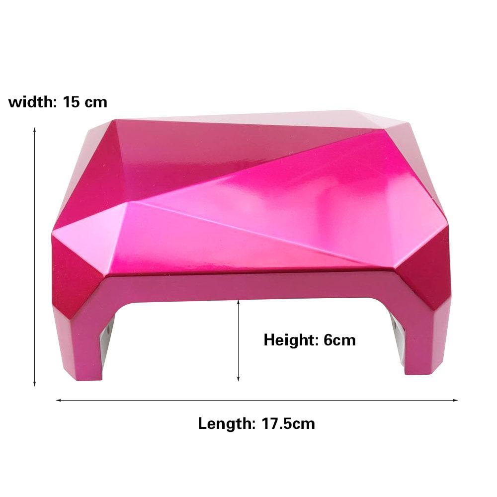 36W Diamond Shaped UV Led Lamp Nail Dryer LED UV Nail Lamp Curing for UV LED Polish Gel Manicure Nails Tools D18111404