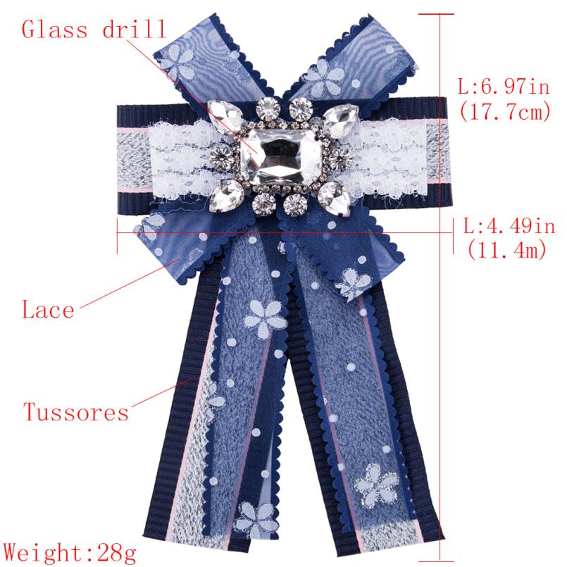 Lüks Düğün Kristal Rhirnstone Yay Broşlar Iğneler Için Tomurcuk Ipek Dantel Ilmek Kravat Kravat Korsaj Broş Kadınlar Gömlek Yaka
