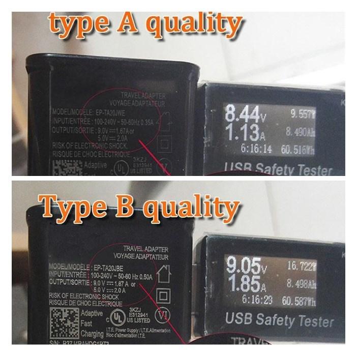 S8 S8 + Juego de adaptadores de viaje Cargador rápido de pared + 1.2M Cable tipo C 2A / 5V 1.67A / 9V Cargador USB Adaptador de teléfono completo 2A con bolsa Opp