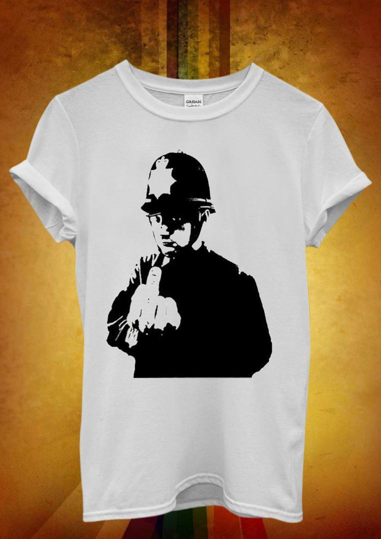 Deux mots un doigt Homme Drôle Unisexe T-Shirt