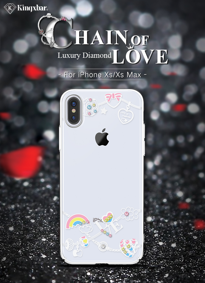 KINGXBAR Case for iPhone Xs Max Case Cute Patterned for iPhone Xs Cover Transparent for iPhoneXs Luxury Crystals from Swarovski (1)