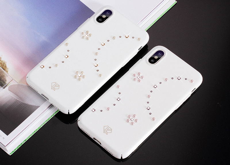 KINGXBAR for iPhone X 10 Capa Pearl Cryatals from Swarovski Case for iPhone X Case Cover Jewelled Phone Coque (13)
