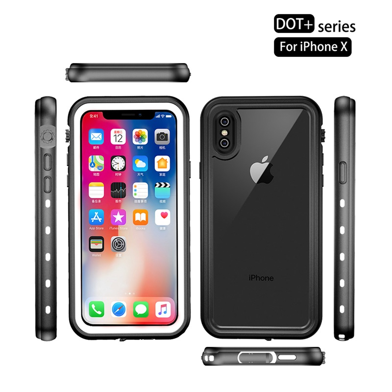 Luxury Waterproof Case For iPhone XR XS Max Clear Soft TPU+PC 360 Full Armor Case For iPhone X S X 10 XSmax Case Fundas Coques (4)
