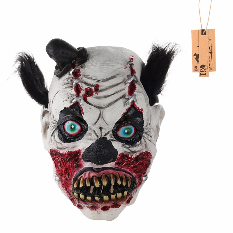 Scary Full Wrinkles Face Bloody Ghost Mask Adult Latex Mask Cosplay Masquerade Halloween Props Party Costumes Fancy Dress Decor