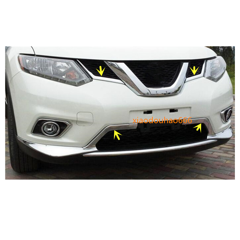 Front Bottom Grill Grid Grille Trim for Nissan X-Trail Rogue 2014-2016