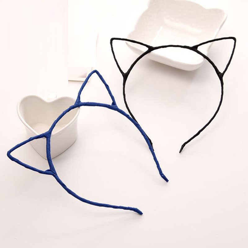 2018 New Cat Animal Ear Headband Bambini Ragazze Little Devil Headwear Accessori capelli Halloween Party Favor