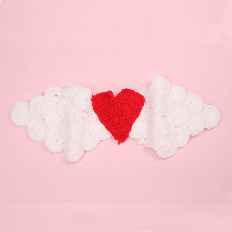 Crochet White Angel Wings Newborn Baby Photography Props Crochet Baby Coming home Outfits Baby Christening Outfits